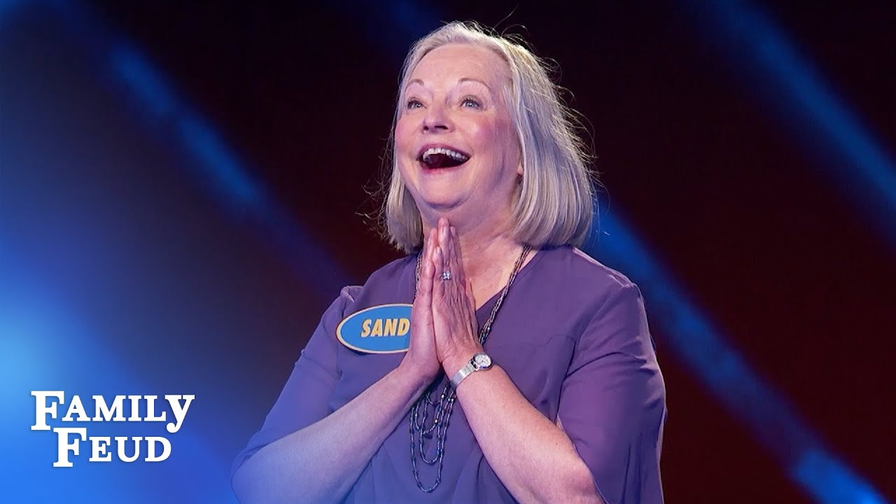 Sandy is one point away from $20,000! | Family Feud
