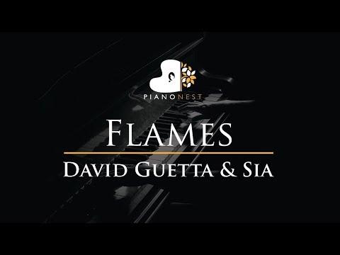 David Guetta & Sia - Flames - Piano Karaoke / Sing Along / Cover with Lyrics