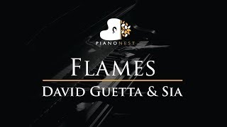 David Guetta & Sia - Flames - Piano Karaoke / Sing Along / Cover with Lyrics