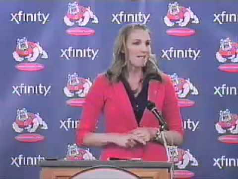 Fresno State's Newest Head Coach: Raegan Pebley - YouTube