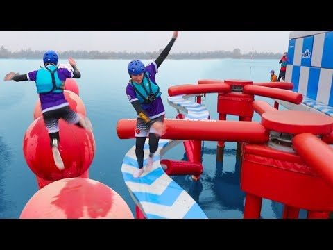 TOTAL WIPEOUT CHALLENGE vs MY SISTER & BRO thumbnail