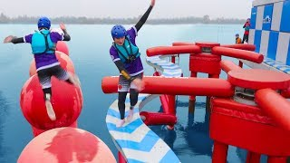 TOTAL WIPEOUT CHALLENGE vs MY SISTE...