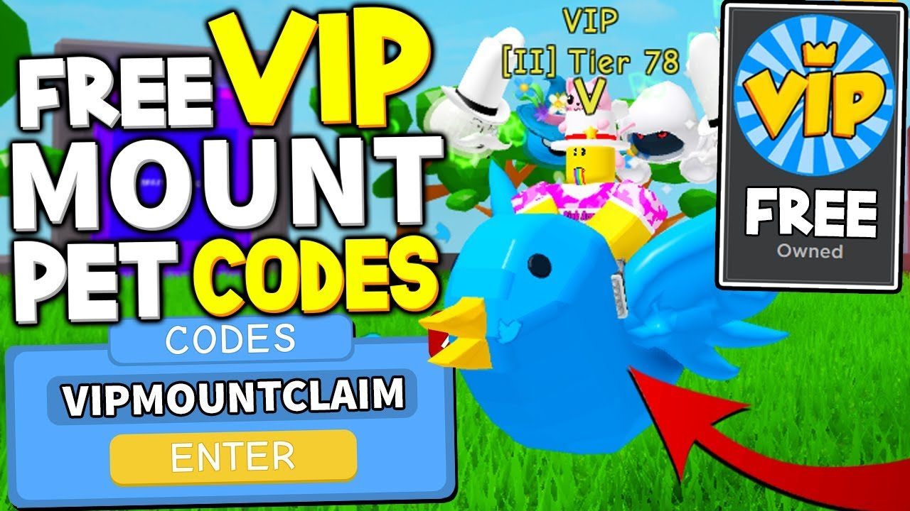 Free Mount Vip Pet Codes In Lawn Mowing Simulator Roblox Youtube