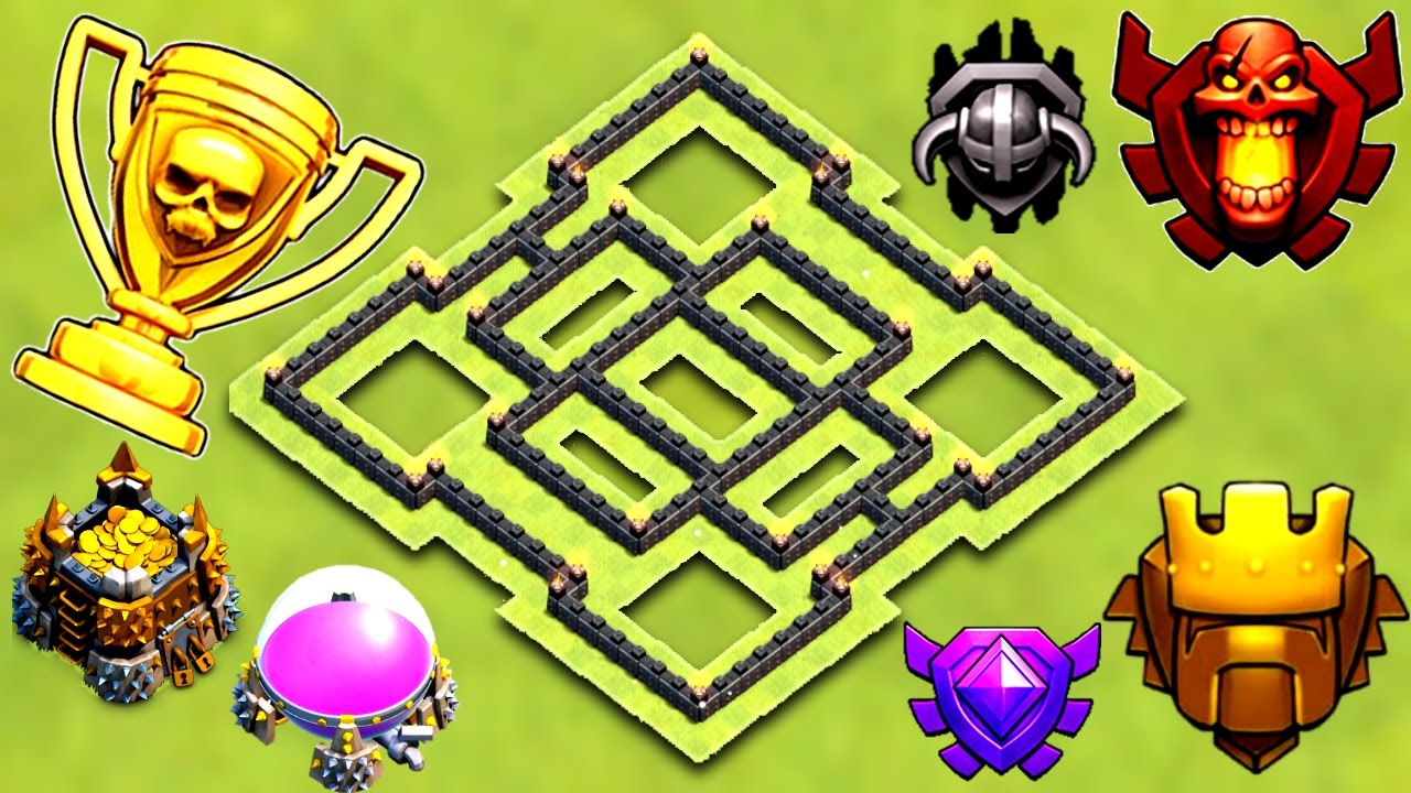 Best Th7 Trophy Base 2017 Town Hall 7 Trophy Farming Base 2017 Clash Of Clans Youtube