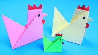 How to Make Easy Origami Chicken - Origami Tutorial