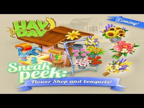 Hay Day Sneak Peek 2 - Flower Shop and Bouquets - October Update 2017