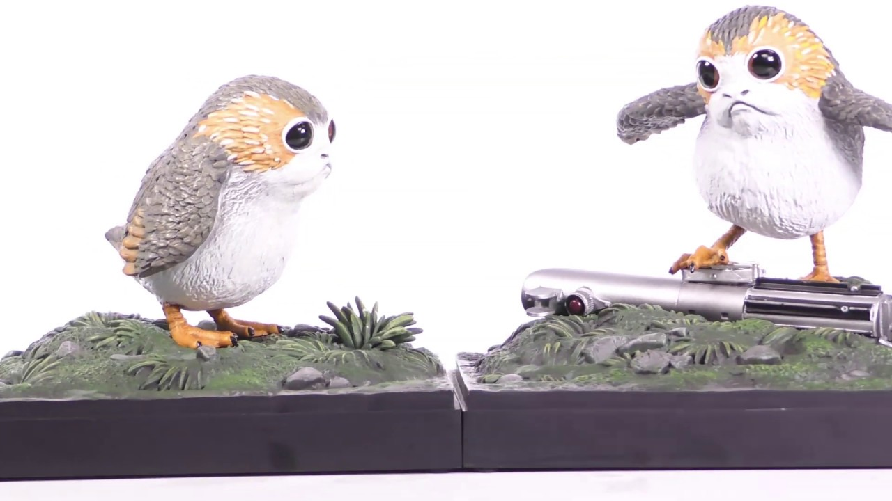 Star Wars The Last Jedi Porg Bookends Unboxing + 360