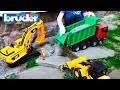 Car toy video for kids Excavator and Construction Trucks for Children learn
