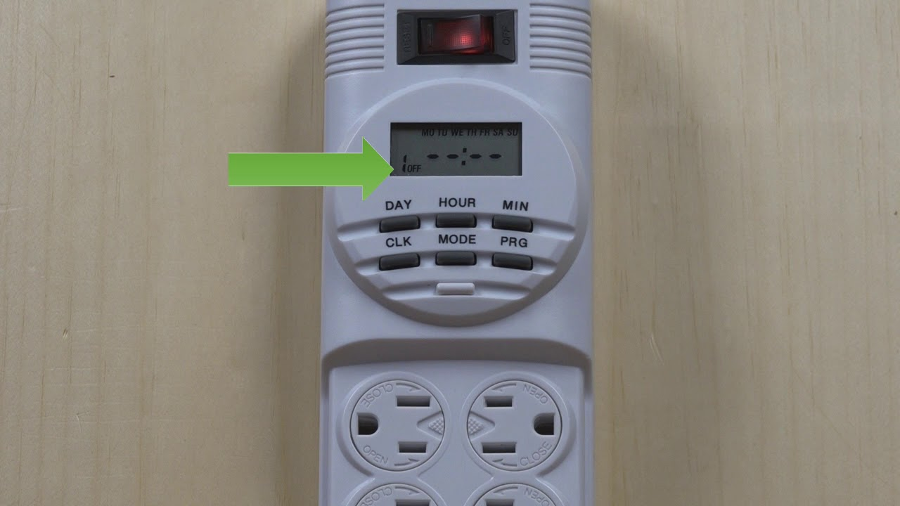 The digital timer powewr strip