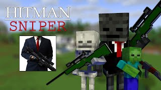 Monster School : HITMAN SNIPER CHALLENGE - Minecraft Animation