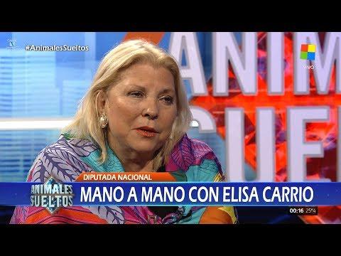 """Elisa Carrió en """"Animales sueltos"""", de A.Fantino (completo HD) - 14/11/17"""