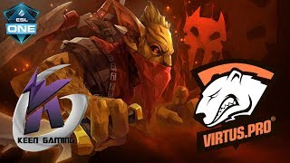 Первая игра на Мажоре для Virtus.pro против Keen Gaming | ESL One Hamburg | Dota 2 Major