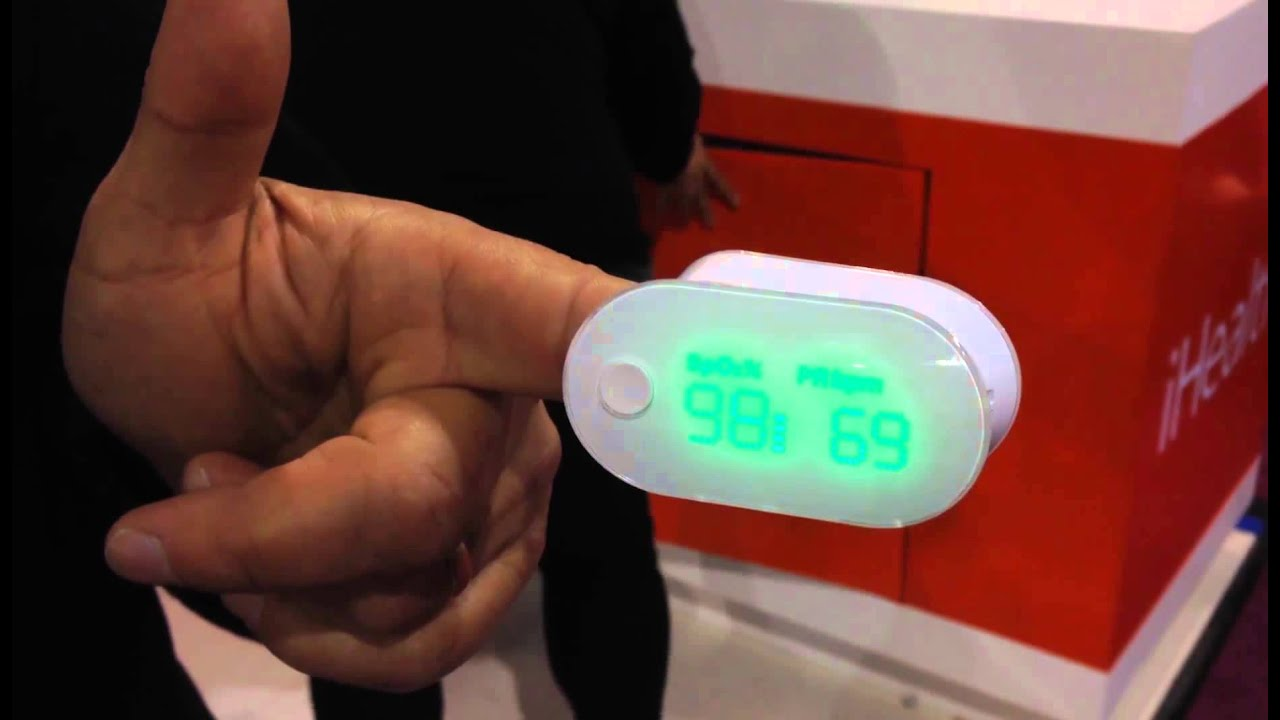 iHealth Wireless Pulse Oximeter at CES 2014 - YouTube