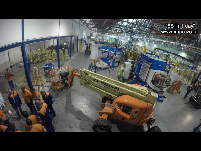 Steel factory makeover 5S in 1 day by IMPROVO continuous improvement