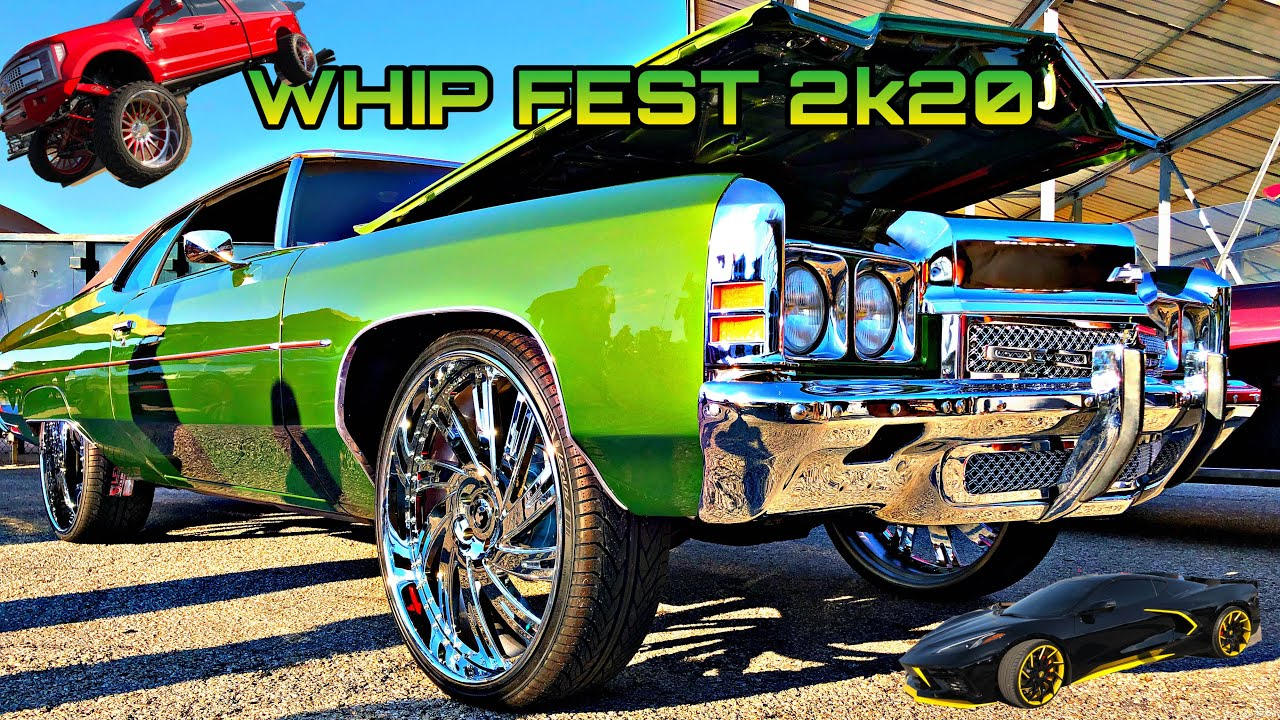 TEXAS WHIP FEST Car Show 2020 | BIG RIM RACING | DONKS | GBODYS AND MORE