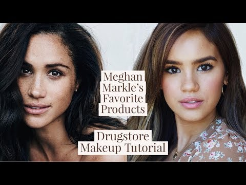 MEGHAN MARKLE MAKEUP TUTORIAL! DRUGSTORE DUPES FOR HER FAVES!   DACEY CASH