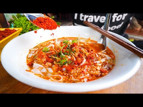Laotian Food Tour - POOP FISH CHILI DIP And Khao Soi In Luang Prabang, Laos!
