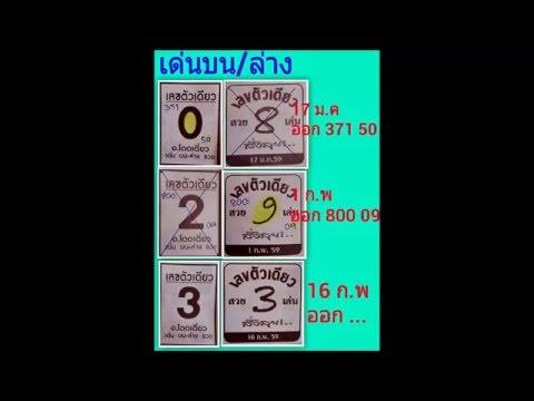 เลขเด็ด 16/2/59 เลขตัวเดียว หวย งวดวันที่ 16 กุมภาพันธ์ 2559