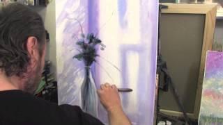 Букет на окне маслом, картина маслом, уроки рисования в Москве, Сахаров