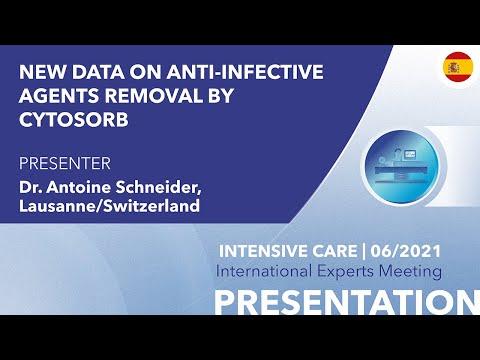 Nuevos datos sobre la eliminación de agentes antiinfecciosos mediante CytoSorb