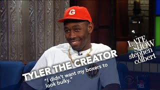 Tyler, The Creator Wears Boxers In Late Night