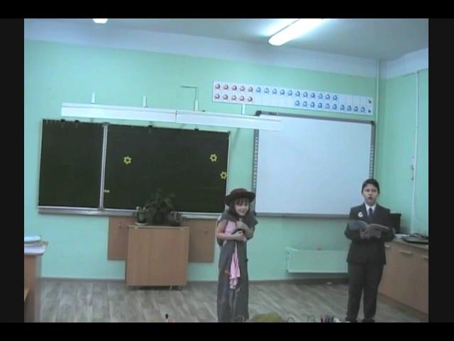 """Изображение предпросмотра прочтения – «2 """"Б"""" класс, коллектив № 3» читают произведение «Стрекоза и Муравей» И.А.Крылова"""