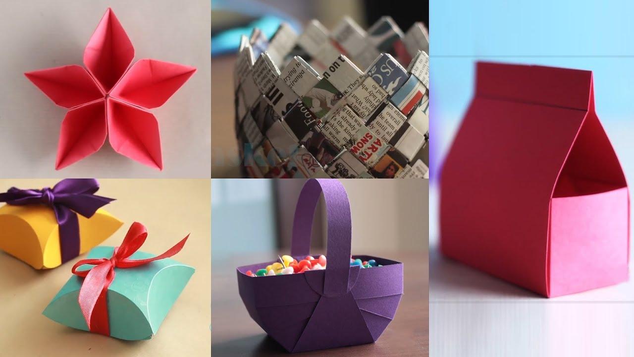 5 Best Paper Crafts DIY Paper Craft Ventuno Art YouTube