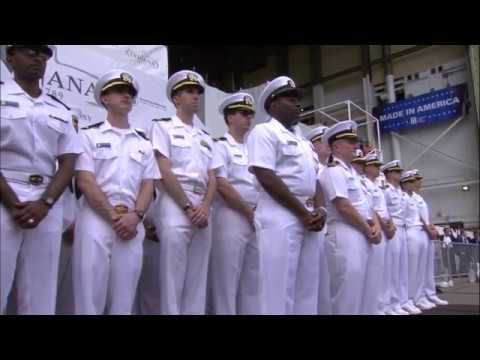 Christening Ceremony of the Navy Future Attack Submarine USS Indiana SSN 789