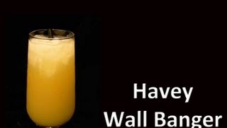 Harvey Wall Banger Cocktail Drink Recipe