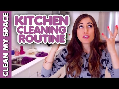 Daily Kitchen Cleaning Routine! (Clean My Space)