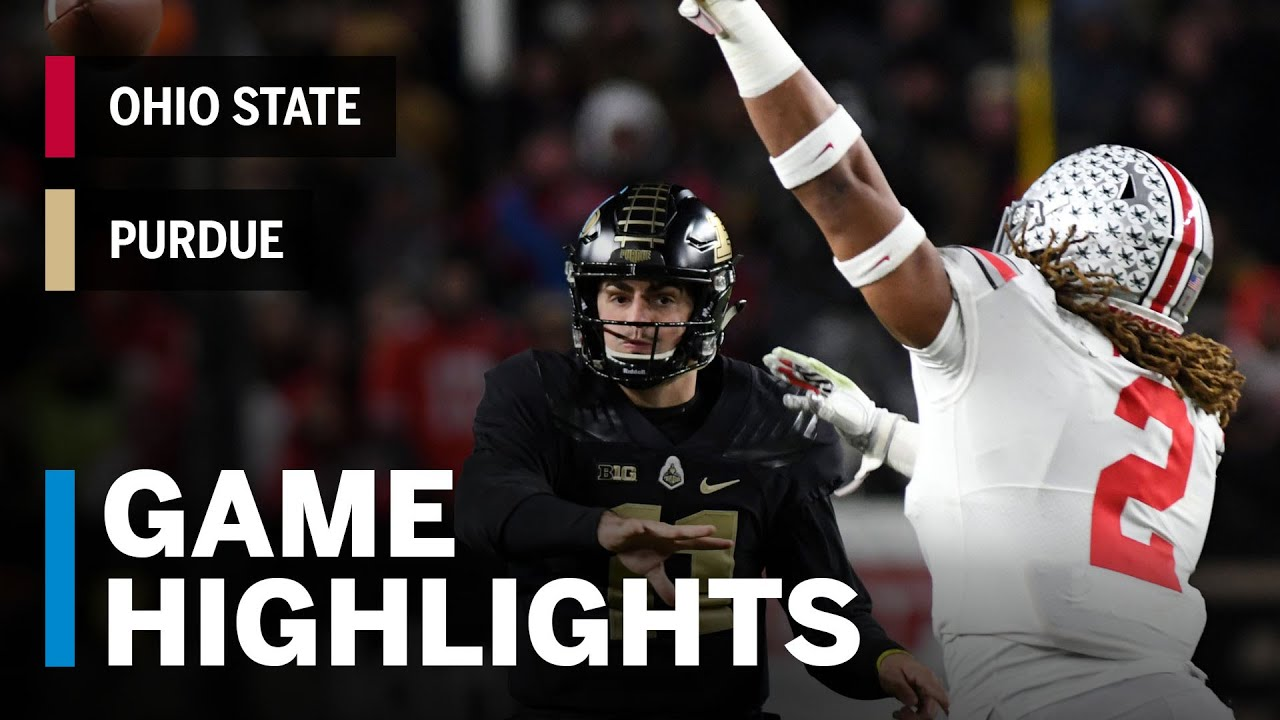 Ohio State Score Highlights Ohio State Buckeyes Vs Purdue Boilermakers Big Ten Football