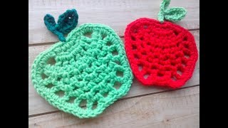 Manzana tejida a crochet - Paso a paso