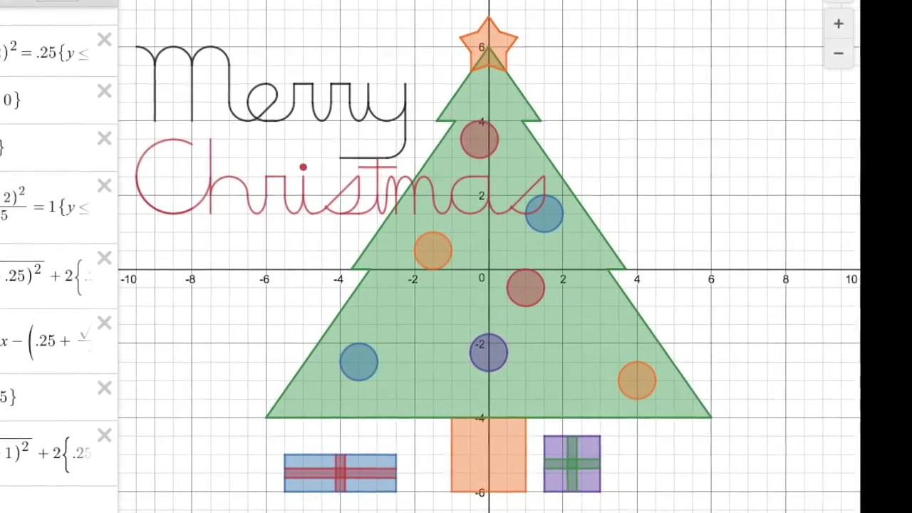 Christmas Tree Graph With Carols Youtube