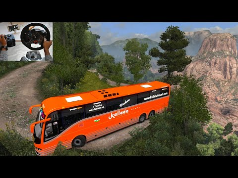 Volvo bus Driving by Indian driver | Most scariest Road | Euro truck simulator 2 with bus mod