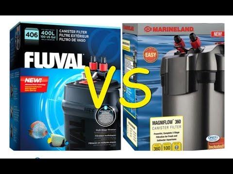 Fluval 406 VS Marineland 360,  Aquariums canister filters
