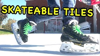 Amazing Skateable Hockey Tiles  Synthetic Ice