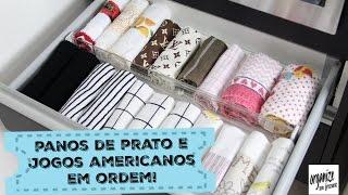 IDEIAS PARA ORGANIZAR OS PANOS DE PRATO E JOGOS AMERICANOS