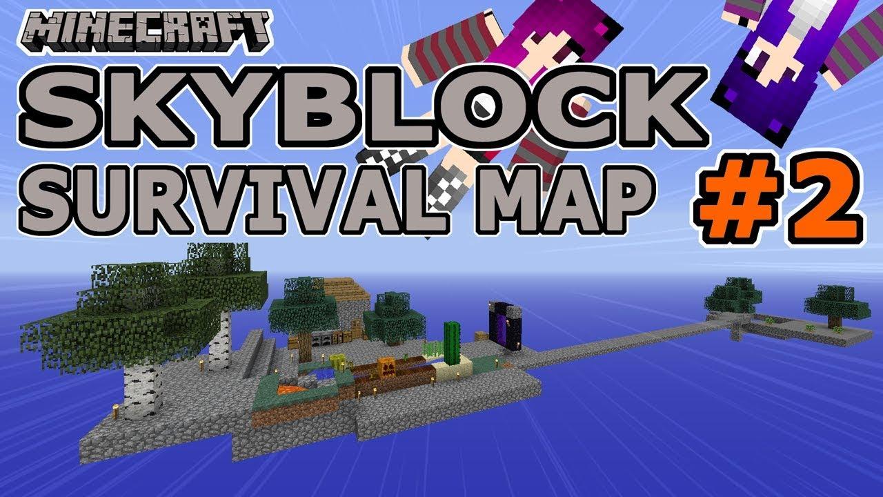 Minecraft Skyblock Survival Map Island Expansion Episode - Minecraft maps skyblock 1 11 2