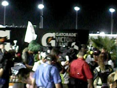 2010 Showtime Southern 500 Postrace Burnout, Victory Lane