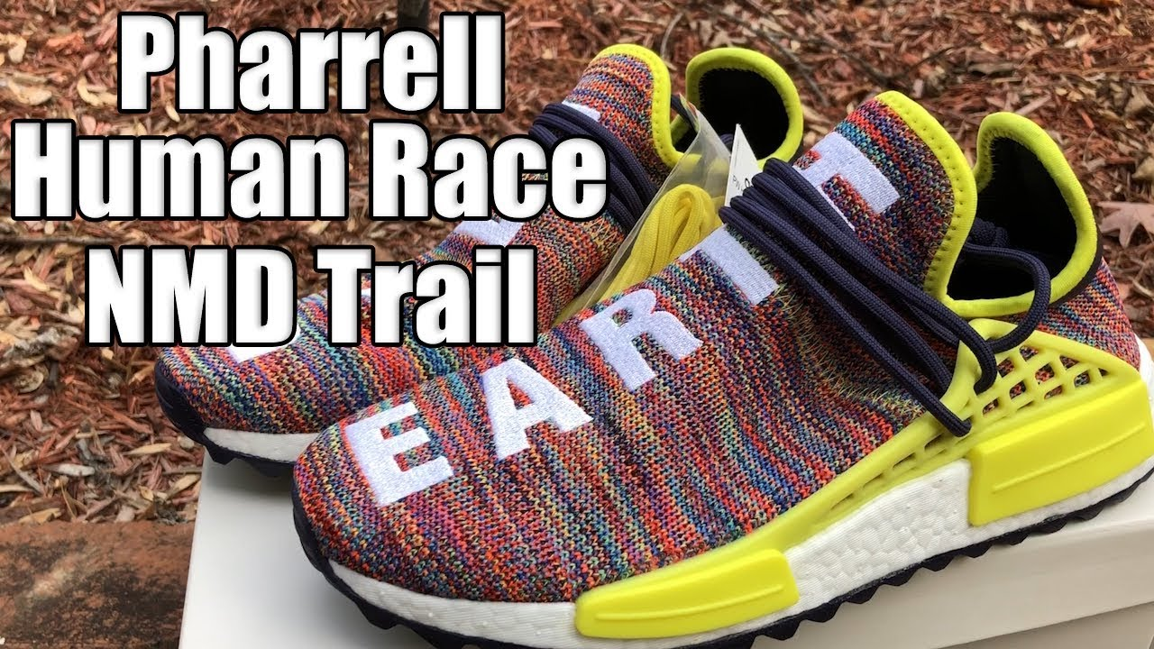 5e32620517230 Adidas Pharrell Human Race NMD Trail Multicolor Review - YouTube
