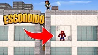 Minecraft: O HOMEM-ARANHA SE ESCONDEU !! ( Esconde-Esconde )