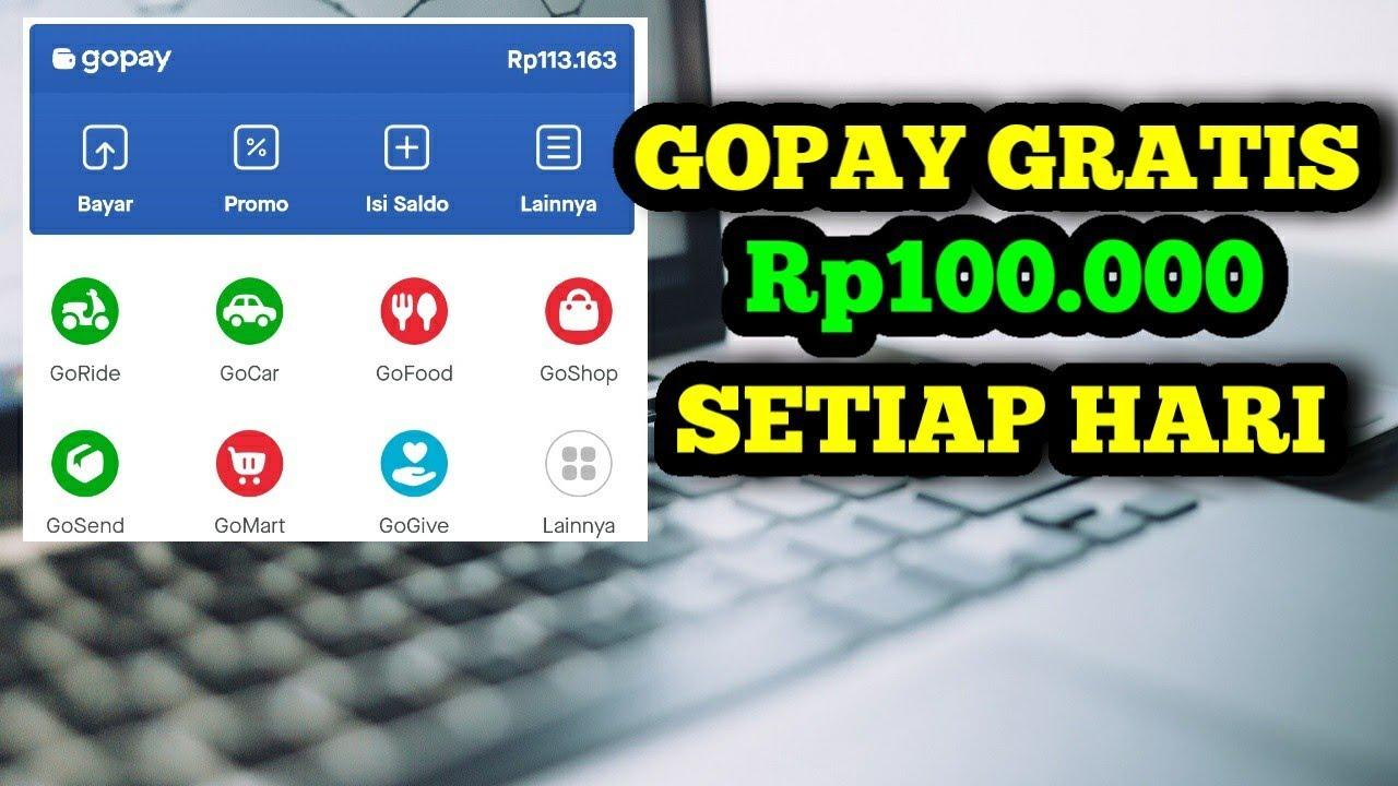 Gopay 100rb setiap hari dari 2 aplikasi penghasil gopay