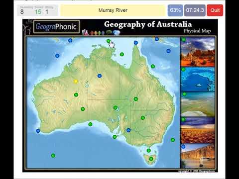 Australia Map Physical Features.Physical Features Of Australia Geography Of Australia Rivers Deserts Seas Game Run