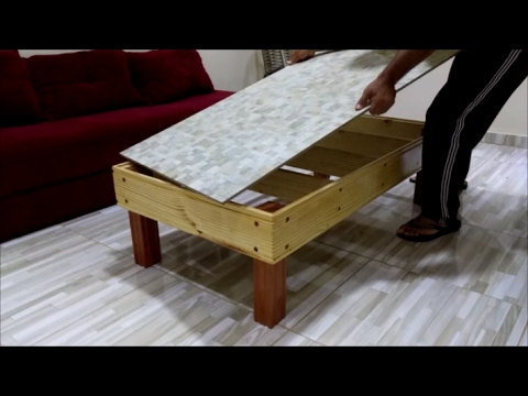 Mesa de Centro Com Tampo de Porcelanato Como Fiz  YouTube