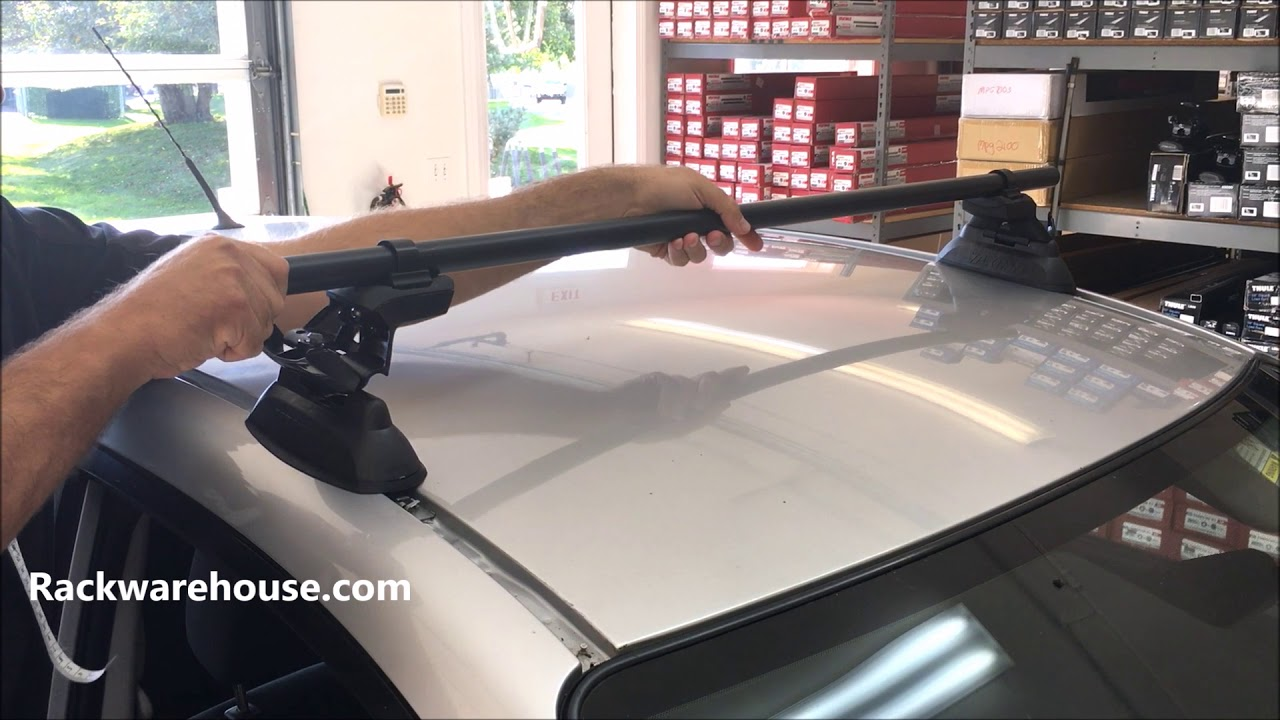 Yakima Skyline 8000148 Roof Rack System With Round Bars For Fixed Points Tracks Custom Installs Youtube