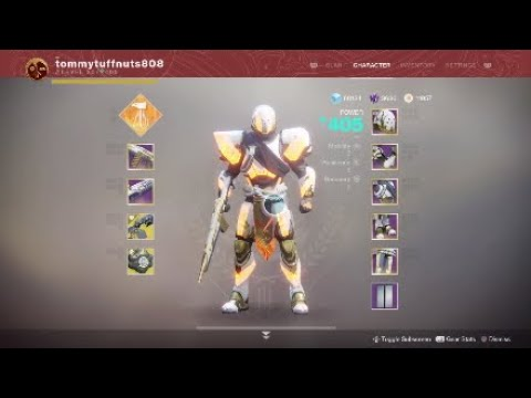 400 power Solstice Armor Full Masterwork (TITAN ARMOR SET) DESTINY 2