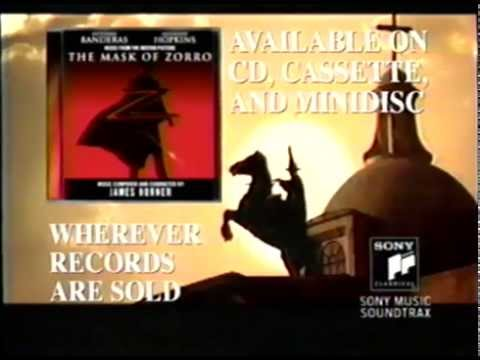 The Mask of Zorro – Soundtrack (1998) Promo (VHS Capture)