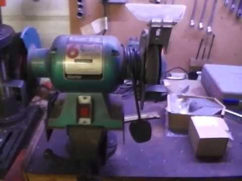 Homemade Bench Grinder Stand Youtube