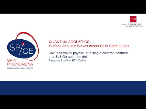 SPICE Quantum Acoustics Workshop - Pasquale Scarlino - Spin and valley physics of a single electron