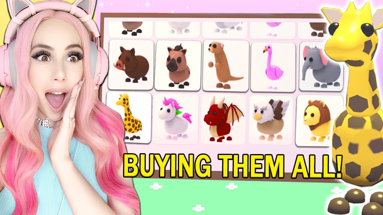 I Bought All The New Safari Pets In Adopt Me Brand New Adopt Me